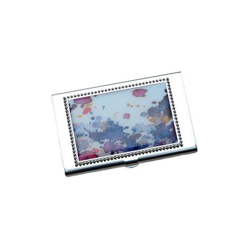 Tie Dye Business Card ID Case