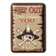 Keep Out Matey Metal Switch Plate Cover