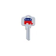 Republican GOP Kwikset KW1 House Key