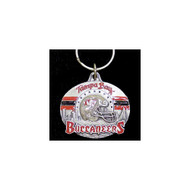 Tampa Bay Buccaneers Pewter Oval Keychain