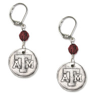 Texas A&M University White Copper Earrings