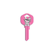It's Happy Bunny Let's focus on me Schlage SC1 House Key