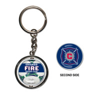 Chicago Fire Logo Spinner Keychain (WC)
