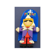 Wooden Queen Flexi Character by The Toy Workshop