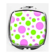 Polka Dots Compact Mirror