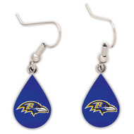 Baltimore Ravens Tear Drop Earrings