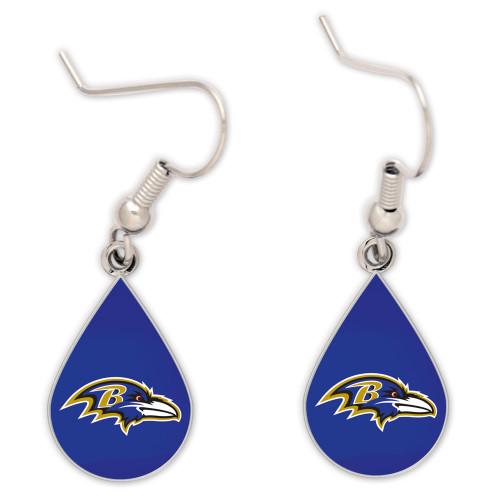 Baltimore Ravens Tear Drop Earrings