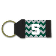 Michigan State Chevron Keychain