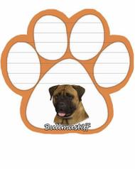Bullmastiff Dog Paw Magnetic Note Pad