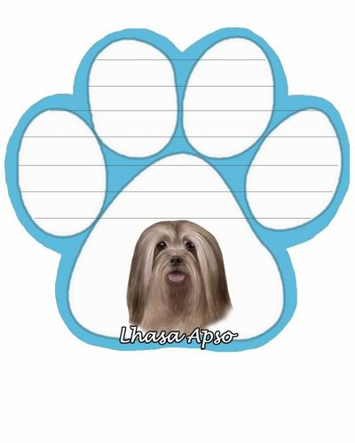 Lhasa Apso Dog Paw Magnetic Note Pad