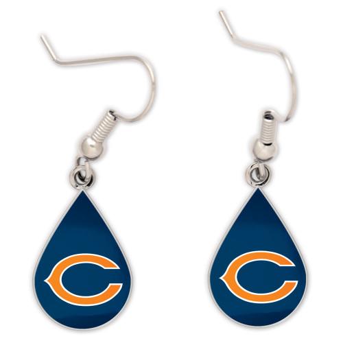 Chicago Bears Tear Drop Earrings