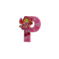 Self Adhesive Wooden Fairy Letter P by The Toy Workshop