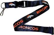 Denver Broncos Lanyard Keychain