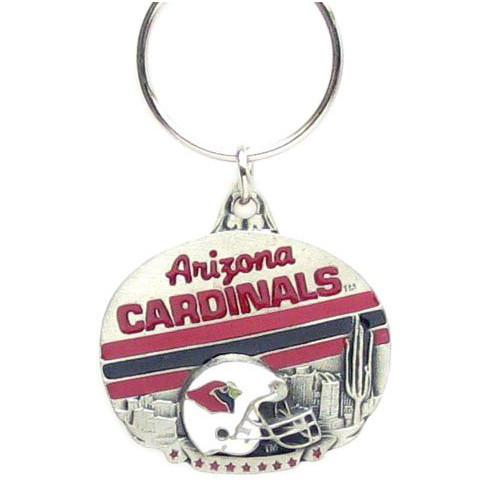 Arizona Cardinals Oval Pewter Keychain