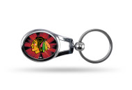 Chicago Blackhawks Oval Keychain