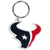 Houston Texans Laser Cut Rubber Keychain