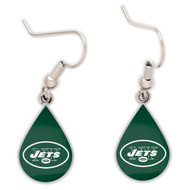 New York Jets Tear Drop Earrings