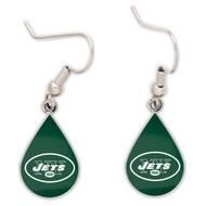 New York Jets Tear Drop Earrings