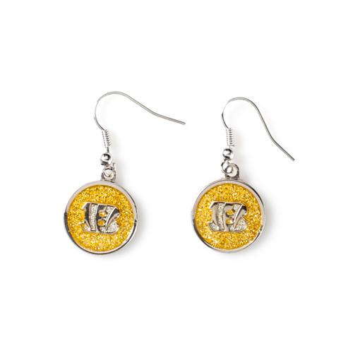 Cincinnati Bengals Glitter Dangle Earrings