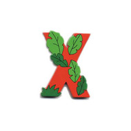 Wooden Red Letter X Magnet by The Toy Workshop