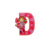 Self Adhesive Wooden Fairy Letter D by The Toy Workshop