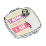 I Bitch, Therefore I Am Compact Mirror