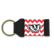 University Of Wisconsin Chevron Keychain