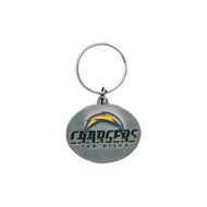 San Diego Chargers Pewter Oval Keychain