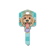 Paws & Claws Dog Feed Me Kwikset KW1 House Key