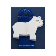 Magnetic Wooden Polar Bear Magnet by The Toy Workshop