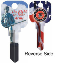 NRA The Right to Bear Arms Kwikset KW1 House Key
