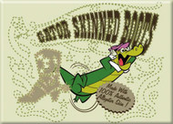 Wally Gator 'Gator Skinned Boots' Refrigerator Magnet