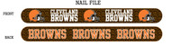 Cleveland Browns Nail File