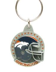 Denver Broncos Pewter Keychain
