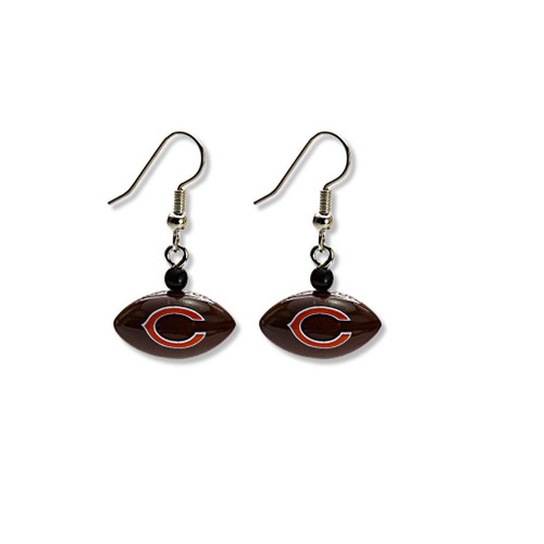 Chicago Bears Football Dangle Earrings