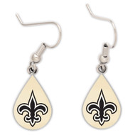 New Orleans Saints Tear Drop Earrings