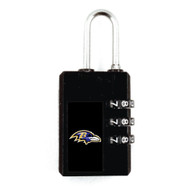 Baltimore Ravens Black Luggage Security Lock TSA Approved