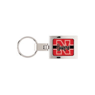 Nebraska Domed Metal Keychain Key Chain
