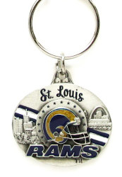 St. Louis Rams Oval Pewter Keychain