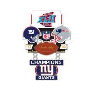 Super Bowl XLII (42) Giants vs. Patriots Champion Lapel Pin