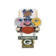 Super Bowl XXXI (31) Patriots vs. Packers Champion Lapel Pin