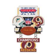 Super Bowl XVII (17) Dolphins vs. Redskins Champion Lapel Pin