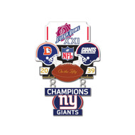 Super Bowl XXI (21) Broncos vs. Giants Champion Lapel Pin