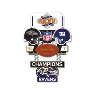 Super Bowl XXXV (35) Ravens vs. Giants Champion Lapel Pin