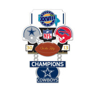 Super Bowl XXVIII (28) Cowboys vs. Bills Champion Lapel Pin