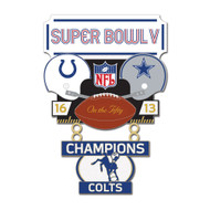 Super Bowl V (5) Colts vs. Cowboys Champion Lapel Pin