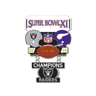 Super Bowl XI (11) Raiders vs. Vikings Champion Lapel Pin