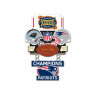 Super Bowl XXXVIII (38) Panthers vs. Patriots Champion Lapel Pin