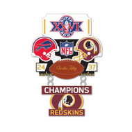 Super Bowl XXVI (26) Bills vs. Redskins Champion Lapel Pin