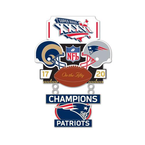 Super Bowl XXXVI (36) Rams vs. Patriots Champion Lapel Pin
